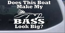 Does This Boat Make My Bass Decal Car Truck Window Laptop Decal Sticker 6X4