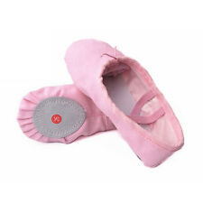 Kid Adult Ballet Shoes Girls Women Pointe Canvas Dance Lady Slippers Pink Red
