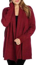 NEW - OSO Casuals® Marled Long Sleeve Ribbed Knit Trim Open Cardigan