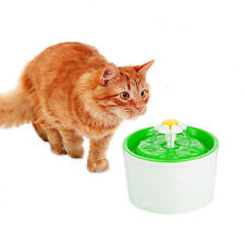 Pet Drinking Fountain Bowl Automatic Dog Waterer Cat Water Dispenser Filter Dish