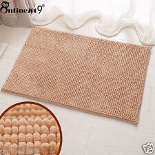 Memory Foam Bath Mats Bathroom Soft Shaggy Shower Carpet Non-slip Bath Mat Beige