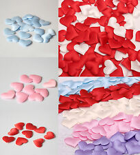 100 Satin Padded Fabric Scatter Love Heart Table Decoration Wedding Favour Decor