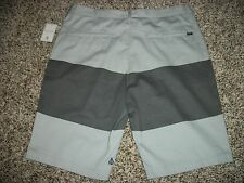 VOLCOM STONE New NWT Mens Walk Shorts Casual Gray Stripe Chino 32 33 34 36 38