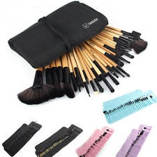 32pcs Professional Soft Cosmetic Eyebrow Shadow Makeup Brush Set Kit + Pouch Bag