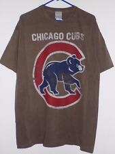 Chicago Cubs t shirt official MLB team logo brown NWT