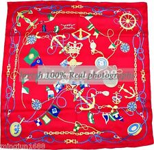 100% Silk Twill Handmade Shawl Red Blue Beautiful Scarves Silk Scarf Wrap Square
