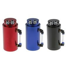 Universal Billet Alloy 750ml Round Oil Reservoir Catch Tank Can Fitting 3 Colors
