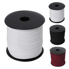 100yards 2.7mm Faux Suede Cord Leather Jewlery Making Beading Flat Thread String