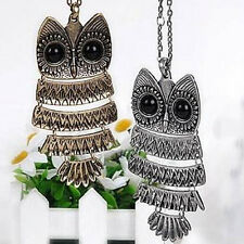 Hot Retro  New Silver 2016 Long Chain Vintage  bronze  Owl Pendant Necklace