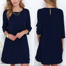 Fashion Spring Women Sweet Lady Casual Dress Chiffon Mini Dresses S/m/l/xl