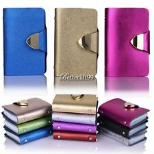 Synthetic Leather Business Case Wallet ID Credit Card Holder Purse 26Cards BF9