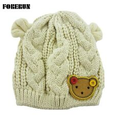Knit Baby Hat Ears Bear Animal cap Boys Girls Winter Warm Toddler Beanie
