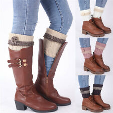 Womens Winter Boot Toppers Cuffs Leg Warmer Crochet Knitted Leggings Boot Sock d
