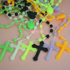 BEAD Rosary Religious Beads Cross Crucifix Catholic Necklace With Cross for Pray