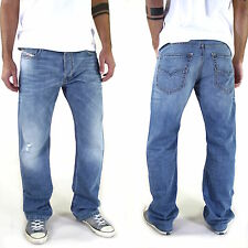 New & Original DIESEL LARKEE Men's Jeans Straight Fit Used Look All Sizes