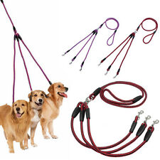 Delicate Coupler 3 Way Dog Leash No-Tangle Triple Pet Leash Fit For Walking Dog