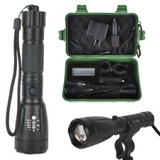 5000LM CREE XML T6 LED Flashlight Torch Zoom Rechargeable+Charger Box Set Lot