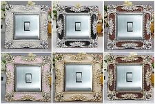 Best Square Acrylic Single Light Switch Surround Socket Finger Plate Panel Cover
