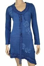 New Pretty Angel Clothing Vintage Victorian Sweater Shirt Tunic Dress In Blue