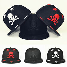Men Women Embroidery Bboy Skull Snapback Baseball Cap Hip-Hop Adjustable Hat New