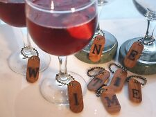 Rustic Wine Glass Charm Sets