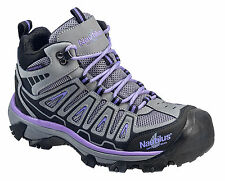 Nautilus Womens Steel Toe WP EH Athletic M Purple Leather Boots