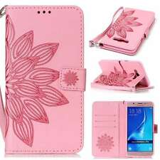 Chinese Lobelia Flip PU Leather Wallet Stand Case Cover Strap For Phones PINK