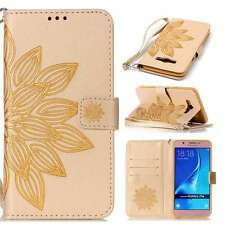 Lobelia New Slim Stand Magnetic PU Leather Case Cover Strap For Phones Gold