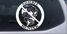 Zombie Hunter Decal Car or Truck Window Laptop Decal Sticker 8X8.0