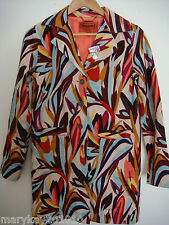 MISSONI FOR TARGET FLORAL MULTICOLOR TRENCH COAT/JACKET RARE!  XS M