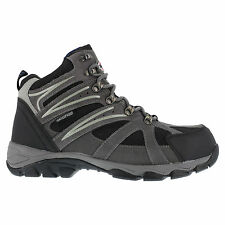 Iron Age Mens Grey WP Leather Mesh Hiker Boots Surveyor Steel Toe