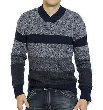 Tommy Hilfiger Men Classic Fit Cardigan V-Neck Luxury Blend Sweater S M XL XXL