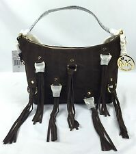 MICHAEL Michael handbag, Michael Kors Presley Suede Medium Shoulder Bag