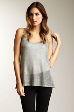ANTHROPOLOGIE SPARKLE SEQUIN TANK TOP IN GRAY BY WILLOW & COAY SZ SMALL