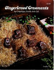 Cross Stitch Gingerbread Christmas Ornaments - Leaflet or Kit