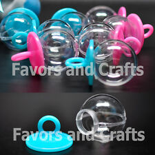 12 Fillable Pacifiers Baby Shower  Favors Blue Pink Party Favors Girl Boy