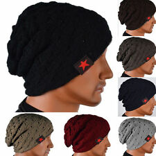 Women Mens Winter Warm Skull Knit Beanie Oversize Baggy Wool Cap Women Hats hot