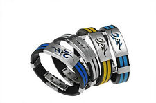 Cool Cuff Steel Bracelet New Wristband Men Stainless US Fashion Line LO Bangle
