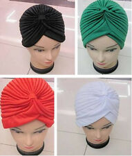 Stretchable Turban Wrap Indian Head Headwrap New Hat Style Cap Unisex Hair