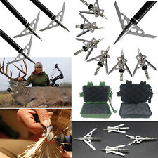 100 Grain 2 Blade Archery Bow Hunting Hypodermic Broadheads Bow Arrow Head Tips