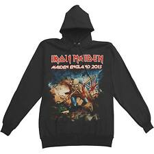 Iron Maiden Men's  England 2013 Tour Hooded Sweatshirt Black