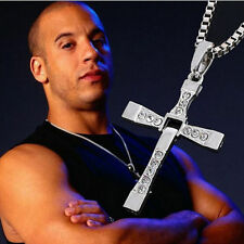 Titanium Stainless FAST and FURIOUS Vin Diesel Dominic Toretto's Cross Necklace