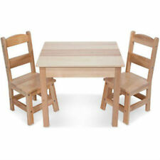 Melissa & Doug Wooden Table Chair Set Kid Child Toddler Arts Crafts Snack NEW