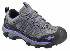 Nautilus Womens Steel Toe EH WP Athletic W Grey Nubuck Leather Shoes