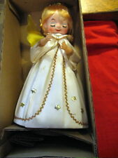 Vintage Christmas Brite Star Musical Angel Plays  Jingle Bells Japan