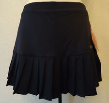 NWT NAVY BLUE FILA PLEATED TENNIS GOLF RUN YOGA SPORTS SKIRT SKORT $50 RETAIL