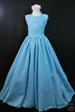 Aqua Blue Little Girl & Girl Pageant Prom Formal Dress  3 4 5 6 7 8 9 10 12 14