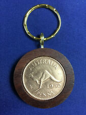 1938 Birthday Gift Present Jarrah Penny Keyring other years available