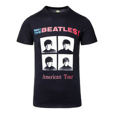Official T Shirt THE BEATLES Black 64 TOUR Vintage Style Band Tee All Sizes