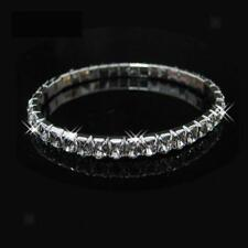Crystal Rhinestone Stretch Elastic Bracelet Bangle Wedding Bridal Wristband